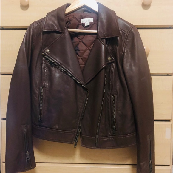 100% Genuine Leather Jacket by Fossil
